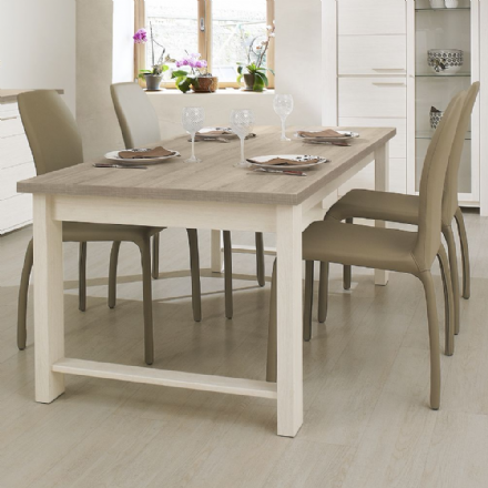Grey Oak or White Ash  Rectangular Dining Table